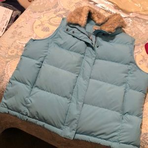 LL Bean Light Blue Down Vest
